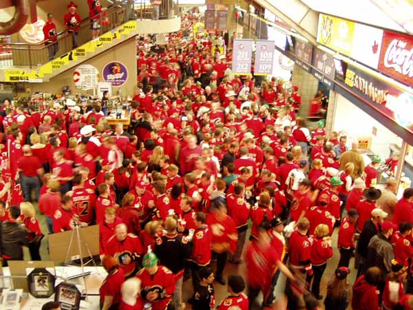 A picture of the 'C of Red' in the Concourse during the First intermission