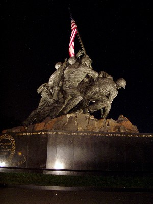 Picture of the US Marine Corps War Memorial in Arlington, VA