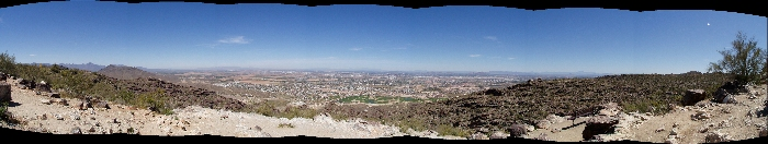A picture of Phoenix and area from South Mountain Park