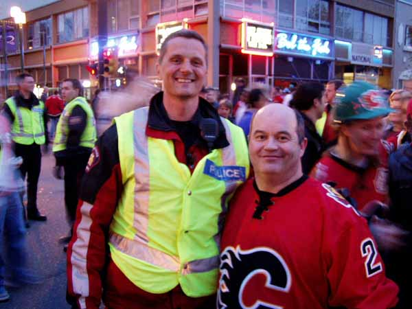 image of Phil and one of Calgary's finest