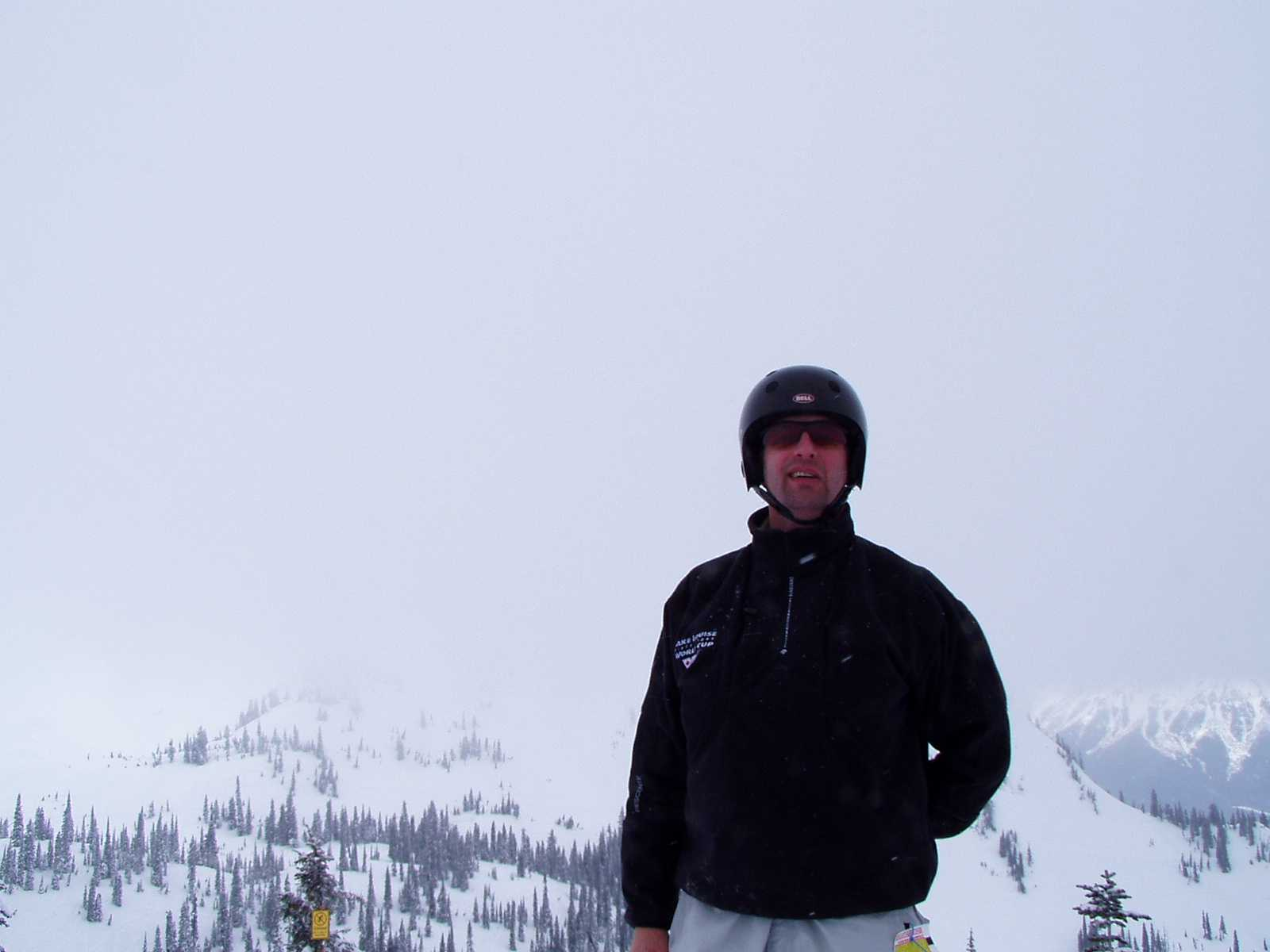 Pic of Doug from the top of the hill at Fernie