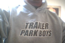 A picture of my new Trailer Park Boys hoodie